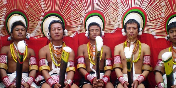 Celebration of the harvest festival of the Pochury tribe of Nagaland.