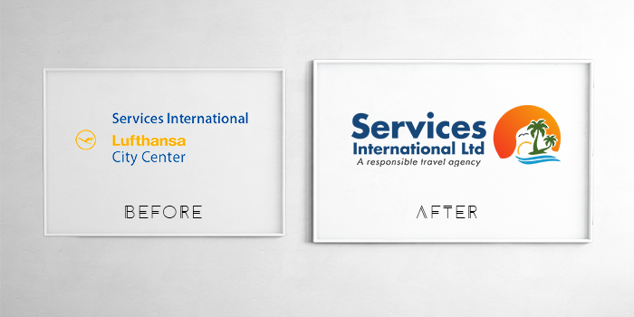 Services International has changed its logo