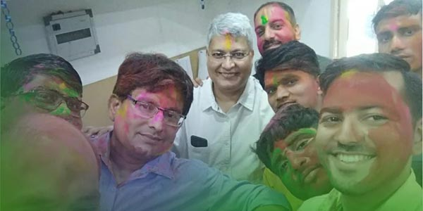 Services International team celebrated Holi