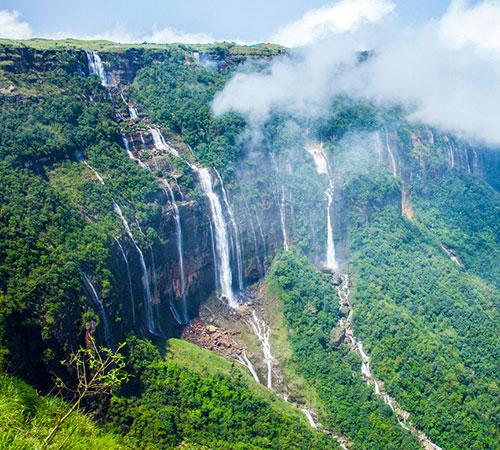 Seven Sisters Falls/ Nohsngithiang Falls