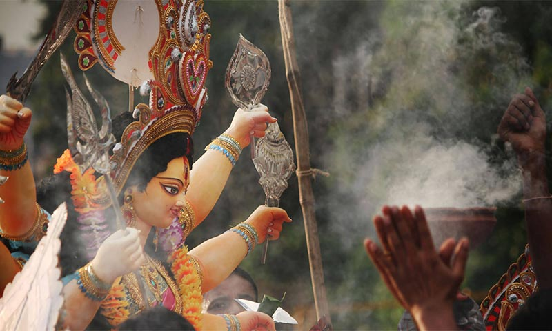 Durga Puja festival celebration tour in West Bengal
